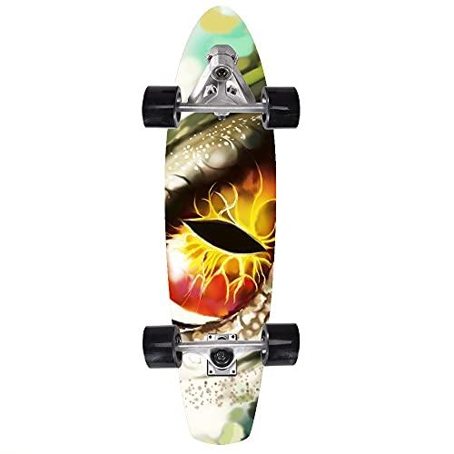 Skateboard Completo Para Adultos, Patineta Para Principiantes, Adolescentes, 80*23*12Cm, 8 Capas De Arce De Nivel A Doble Patada Cóncava Estándar Y Patineta De Trucos, Con Rodamientos ABEC-11,2