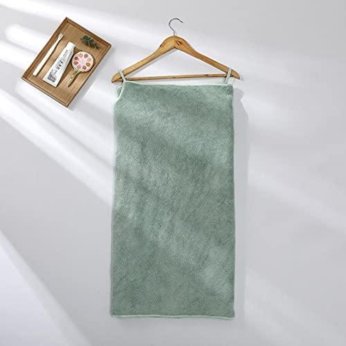 IAMZHL Toallas de baño Albornoz de Microfibra Toallas de Mujer Toallas de baño Textiles para el hogar Toalla de Ducha Absorbente Toalla de Mujer Juego de Toallas de baño-Light Green-75x150cm