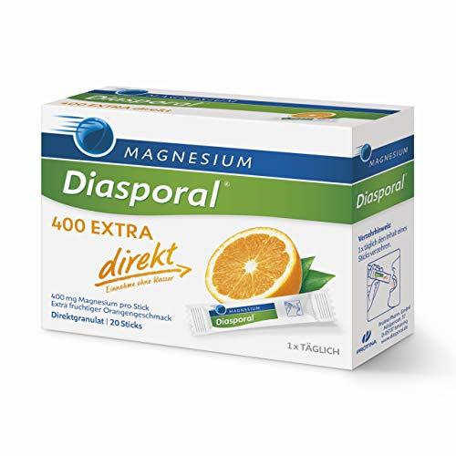Magnesium-Diasporal 400 EXTRA direkt: Das Direktgranulat der EXTRA-KLASSE mit 400 mg Magnesium pro Stick, 20 Sticks