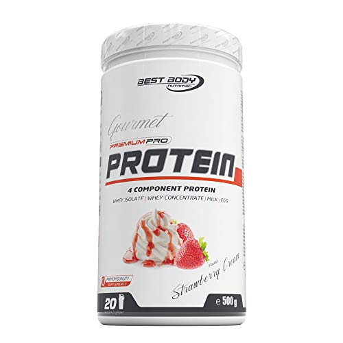 Best Body Nutrition Gourmet Premium Pro Protein Strawberry Cream Dose, 500 g