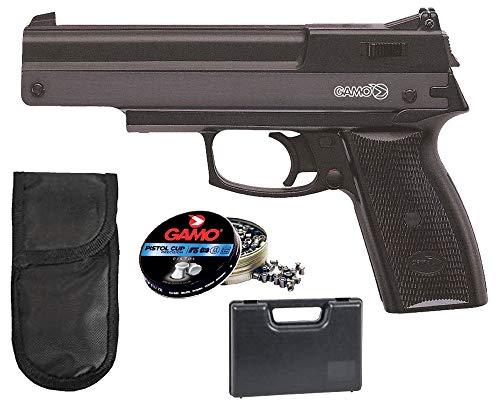 Tiendas LGP – Gamo- Pack Pistola perdigón Gamo AF-10 4,5mm. Carga Manual (no Necesita Botellas de Gas Co2). + Maletin +Funda Portabalines + 250 Balines.
