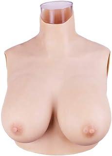 Minaky Silicone Breast Plate Fake Boobs Mastectomy Prosthesis for Crossdresser Transgender Costume 1G(Lightweight), No.2, ...