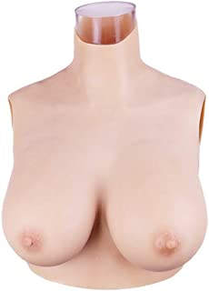 Minaky Silicone Breast Plate Fake Boobs Mastectomy Prosthesis for Crossdresser Transgender Costume 1G(Lightweight)