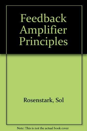Feedback Amplifier Principles pdf Download