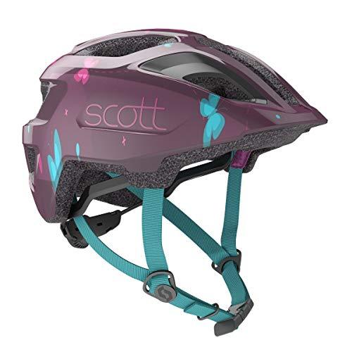 Scott Spunto Kinder Fahrrad Helm Gr.46-52cm lila 2020