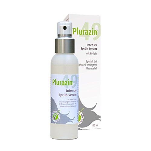 Plurazin 49 Intensiv Sprüh Serum I Stimulation der Haarfolikel bei Haarausfall und Haarwachstumsstörungen in den Wechseljahren, Menopause I Mit Arginin, Ginkgo Biloba, natürlichem Koffein hochdosiert
