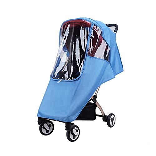 LJPzhp-Baby Poussette Protection Pluie Poussette Rain Cover Universal Poncho Pare-Brise Respirant antipoussière Raincoat Enfant Pluie Car Cover (Couleur : Bleu, Taille : Taille Unique)
