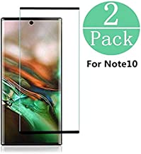 2 Pack Screen Protector for Galaxy Note 10,Full Coverage Case Friendly and Bubbles Free Scratchproof Tempered Glass,Easy Installtion Compatible with Samsung Galaxy Note 10