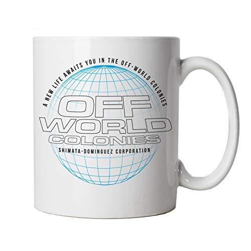 Taza inspirada en la película Off World Colonies, taza | TV & Movie Cup regalo 10oz blanco