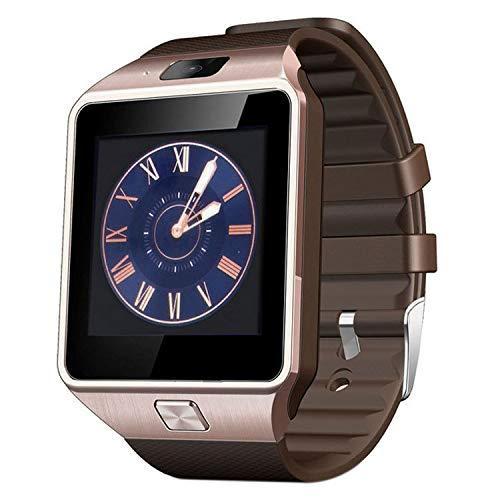 CUHAWUDBA DZ09 Smartwatch-Unterstützung mit Kamera, SIM-Karte, Smartwatch für iOS- und Android-Handys, silberfarben