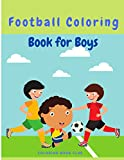 Photo Gallery football coloring book for boys: hours of football themed activity fun