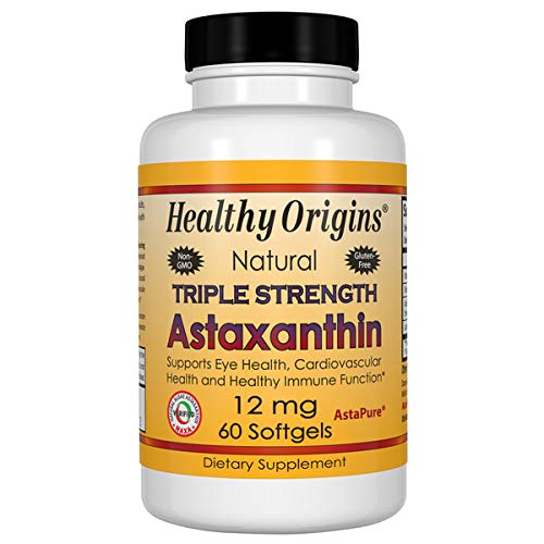Healthy Origins Astaxanthin 12 mg Trip Strength 60 Gels