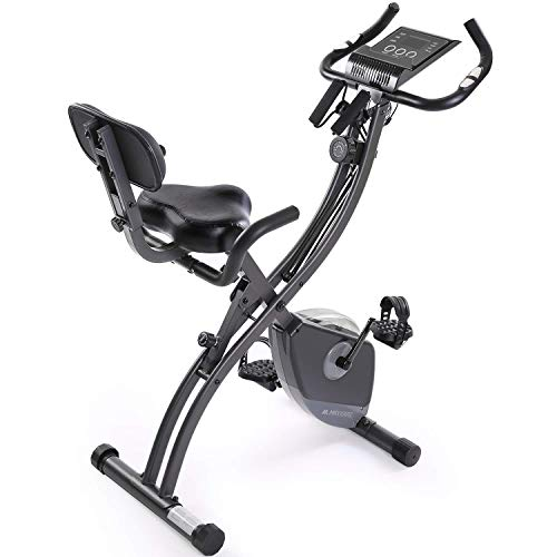 MaxKare Magnetic Recumbent Bike With Resistance Bands