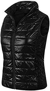 Instar Mode Women's Casual Warm Lightweight Packable Down Quilted Puffer Vest Coat Jacket (S-3X)