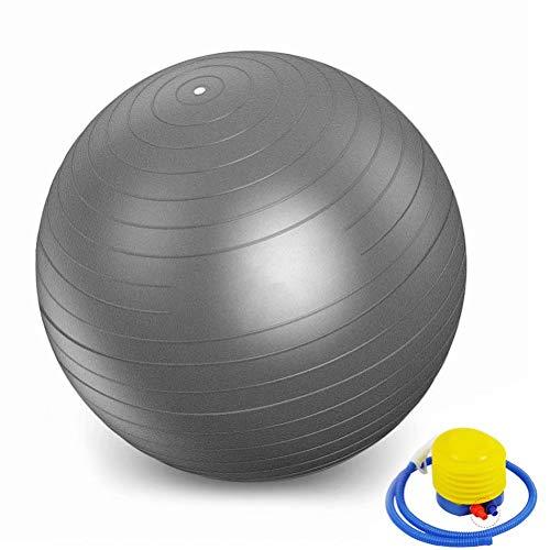 YANGHUI,Grau Ball Umweltschutz Aufgeblasen Kleiner Gymnastikball Verdicken Explosionsgeschützt Balance Fitnessbälle Bauchmuskeltraining Nackenmassage Mini Pilates 45cm