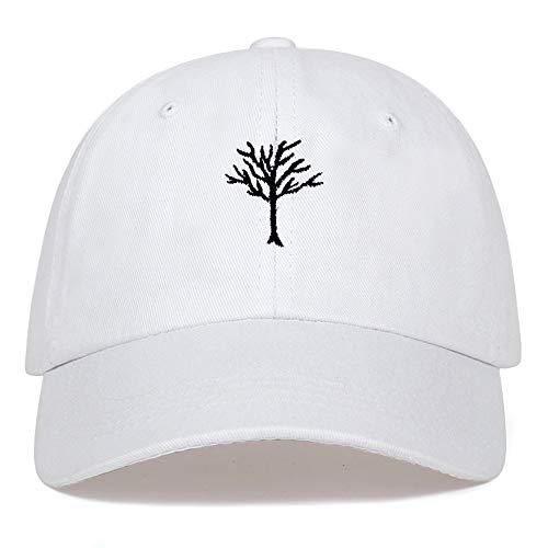 GAOXUQIANG Casual Hip-Hop-Rebound Kappe Damen der Männer aus 100% Baumwolle im Freien Baseballmütze schwarz rosa weiß,Weiß,L