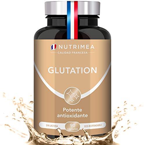 Glutatión Potente Antioxidante con Vitamina C, Reducido al 98% + Glicina Cisteína...