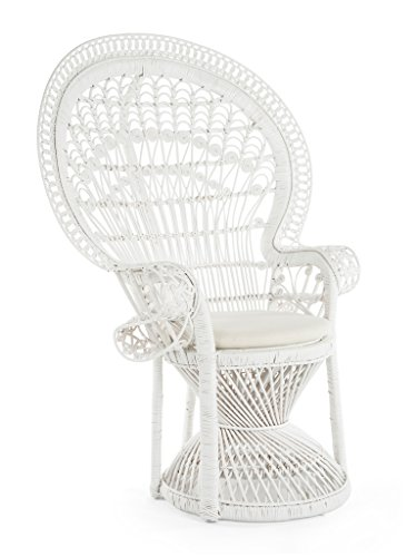 KOUBOO Pecock Grand Peacock Chair in Rattan with Seat...