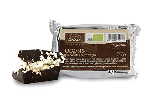 Barrita de arroz inflado, Cacao y sirope de ágave - 25 gr (