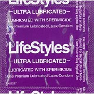 Lifestyles Ultra Lubricated with Spermicide and Silver Lunamax Pocket Case, Premium Latex Condoms-36 Count
