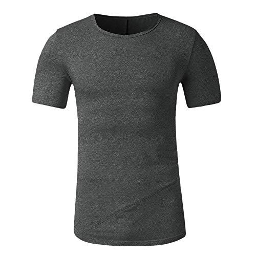 T-Shirt Homme Casual - Hommes Été T-Shirt Slim Fit col en V à Manches Courtes Coton Muscle Casual Tops Blouse Chemises