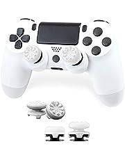 FPSフリーク PS4 PS5 コントローラー用 親指グリップキャップ 滑り止め RG 可動域アップ アシストキャップ 簡易パッケージ アシストキャップ ジョイスティックカバー For P5 / P4 保護カバー (ホワイト)