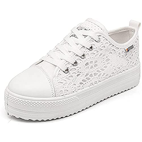 Minetom Femmes Casual Dentelle Lace Mode Toile Chaussures...