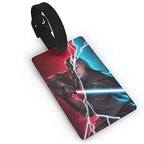 Star Wars Darth Vader etichette per valigie, etichette unisex per valigie e bagagli, con copertura posteriore completa della privacy, per navi da crociera, accessori da viaggio