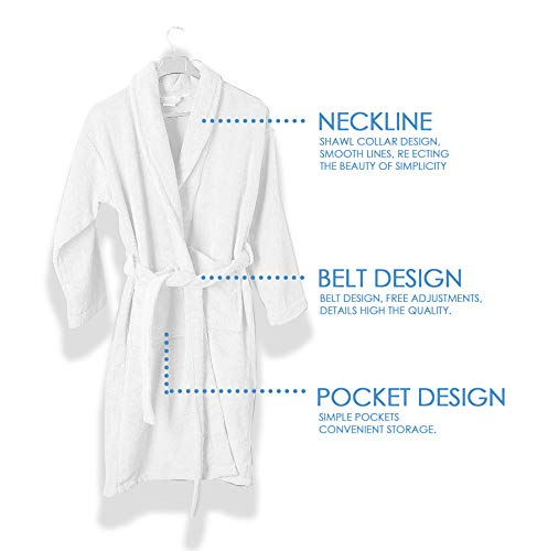 EcoLinen Luxury Bathrobe Towel with Slippers Spa Robe Combed 100% Terry Cotton Organic Cloth for Men Women Lightweight Luxurious Cozy Unisex Hotel Robes
