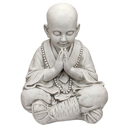 Design Toscano KY47127 Praying Baby Buddha Asian Garden Statue, Antique Stone