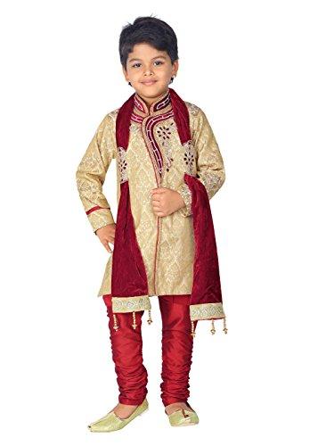 ahhaaaa Boys' Silk Cotton Clothing Set