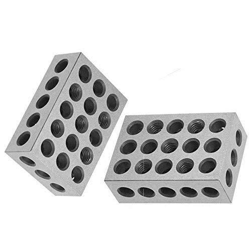 WY-YAN 1 juego 23 agujeros de precisión 1-2-3 Bloques con tornillo de sujeción Llave PARALELO sistema del bloque 23 agujeros paralelos Bloquear con tornillo Llave