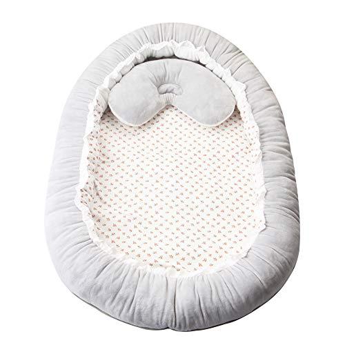 Firlar Baby Bassinet, Baby Crib, Pasgeboren Vouwen Fluweel Bassinet, Baby Nest Snuggle Bed wieg matras Peuter Slaap Nest Kussen Baby Lounger