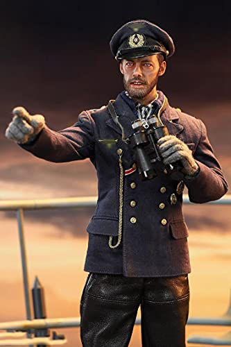 Action Figure World War II U-Boat Chief Staff Model Toys, 1/6 12 Inch Skipper Soldier Model PVC Modelo Doll Regalo para Fotografía, Hobby and Collection