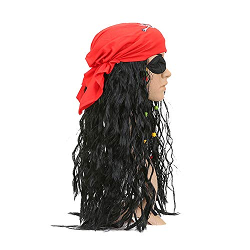 Demarkt Cosplay pruik lang haar dames volledige pruik piraten pruik capaciteit pruik hoofdband voor Cosplay kostuum Halloween maskerade
