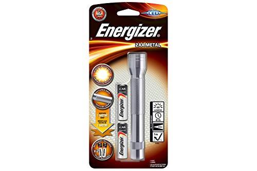 Energizer - Linterna LED metálica con pilas, resistente a caídas