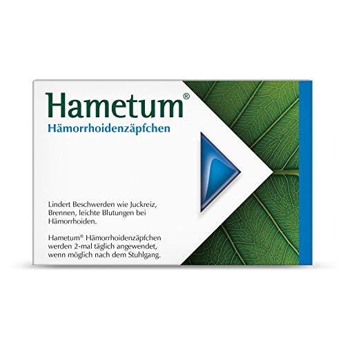 Hametum Hämorrhoidenzäpfchen – Lindert die Beschwerden bei beginnenden Hämorrhoiden – 25 Zäpfchen