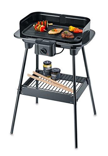SEVERIN PG 8534 Barbecue-/Standgrill (1.600W, Grillfläche, 38x22,4 cm) schwarz