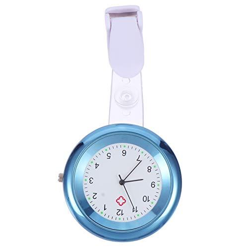 Scicalife Krankenschwester Fob Uhr Modische Clip- Auf Pflege Uhr Aluminium Legierung Krankenschwester Uhr Versenkbare Uhr (Dunkelblau)