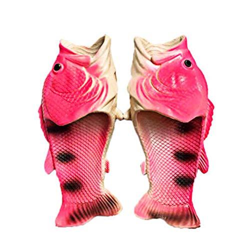 EDOSTORY Pantoufles Plaisir Créatif pour Les Hommes Et Les Femmes, des Pantoufles De Poissons Mâles Chaussures De Plage D'été Douces Idées De Douche Antidérapants Bas Animaux Drôle,Rose,EU39