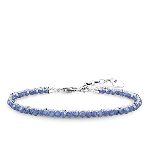 Thomas Sabo Damen-Armband Blau 925 Sterling Silber A1712-624-1-L19v