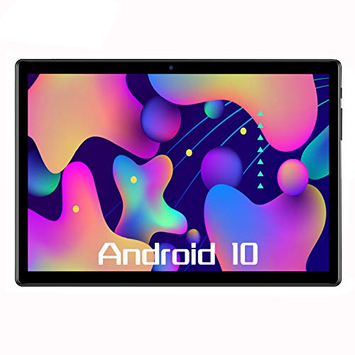 Tablet 10 Inch,Android 10,Octa Core,64GB Rom,4GB Ram, 4G LTE, HD, WiFi, GPS, GSM, Dual Sim Card, Tablets 10.1 (Black)