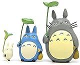 HUANXI Studio Ghibli Totoro Figuras Juguetes Kit Mi Vecino Totoro Figuras Estatua Modelos Muñecas para DIY Micro Decoraciones de Paisaje Regalos para niños,3pcs