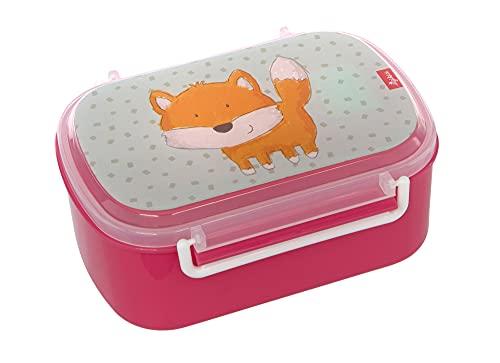 SIGIKID 25169 broodtrommel vos broodtrommel BPA-vrij meisjes lunchbox aanbevolen vanaf 2 jaar blauw/roze