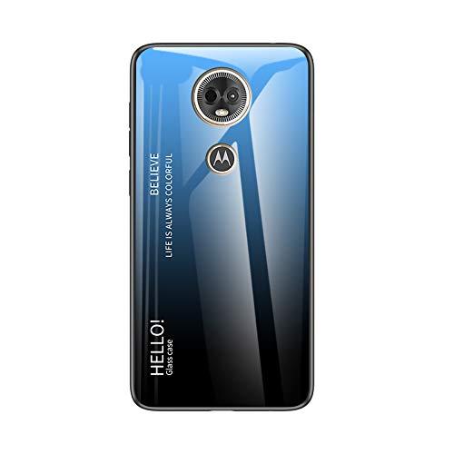 Custodia® Farbverlauf Anti-Kratzer Glas Hülle Kompatibel für Motorola Moto E5 Plus (8)
