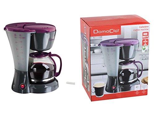 Kaffeemaschine mit Glaskanne 1,5 Liter (Kaffeeautomat für ca. 12 Tassen, Warmhalteplatte, 800 Watt, schwarz-lila)