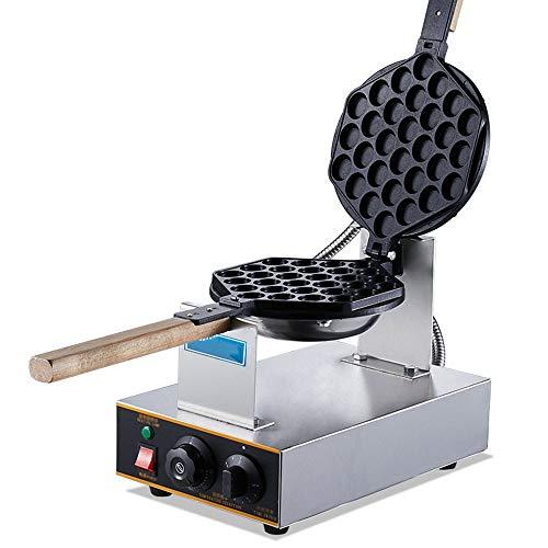 YFGQBCP 180 ° Rotary Wafflera Hierro, 30pcs Huevo Fabricante de Pasteles de la máquina Fabricante de Pan de Acero Inoxidable, 1300W eléctrico Waffle máquina con Control de Temperatura