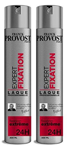 FRANCK PROVOST - Laque Coiffante Expert Professionnelle Fixation Maintient Extrême - 300 ml - Lot de 2