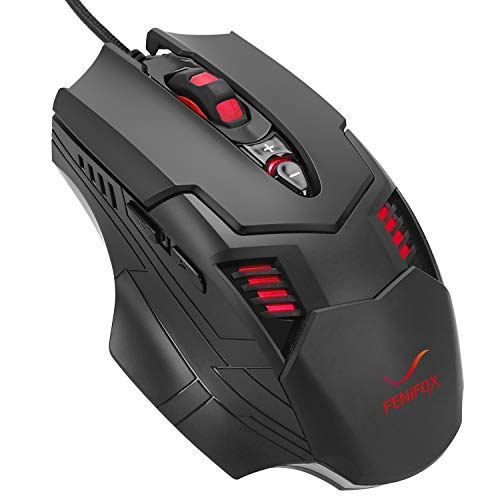 Wired Mouse Gaming Mouse Rainbow Backlit Ergonomic Programmable Wired Gaming Mouse for PC Computer Windows PC Gamer PS4 Xbox one