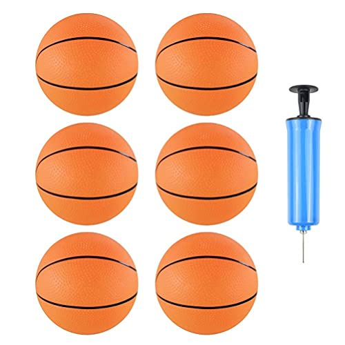 TOYANDONA 1 Juego de Mini Baloncesto Inflable en Miniatura de Baloncesto con Bomba de Juguete de Interior Aire Libre para La Tienda en Casa Color Azar